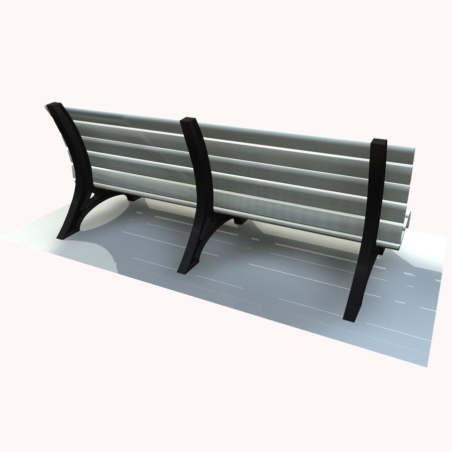 Park Bench 2 royalty-free 3d model - Preview no. 4