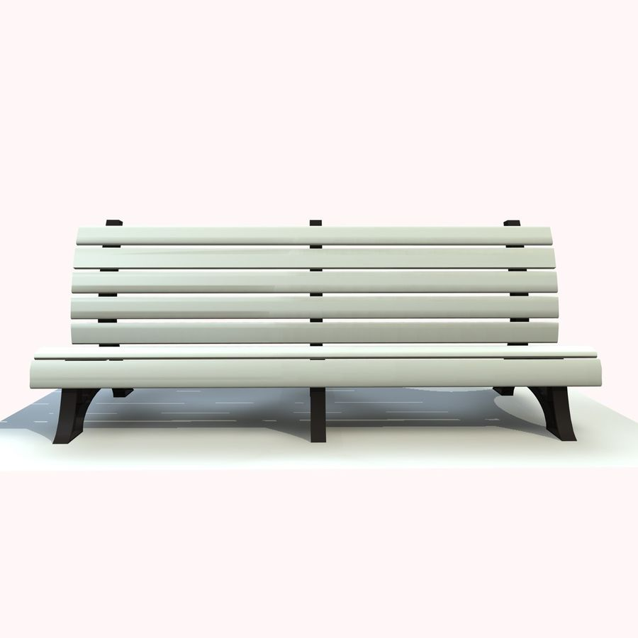 Park Bench 2 royalty-free 3d model - Preview no. 7