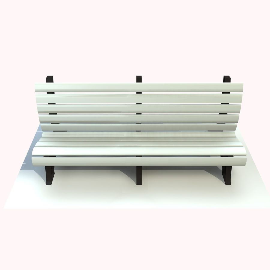 Park Bench 2 royalty-free 3d model - Preview no. 6