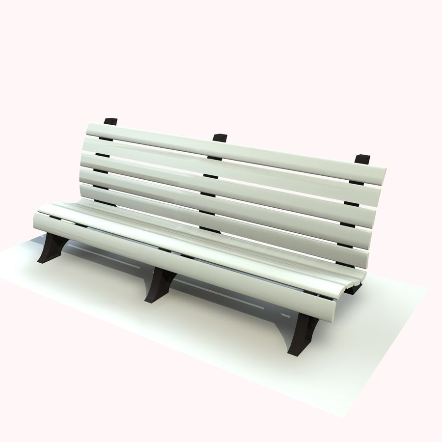 Park Bench 2 royalty-free 3d model - Preview no. 1