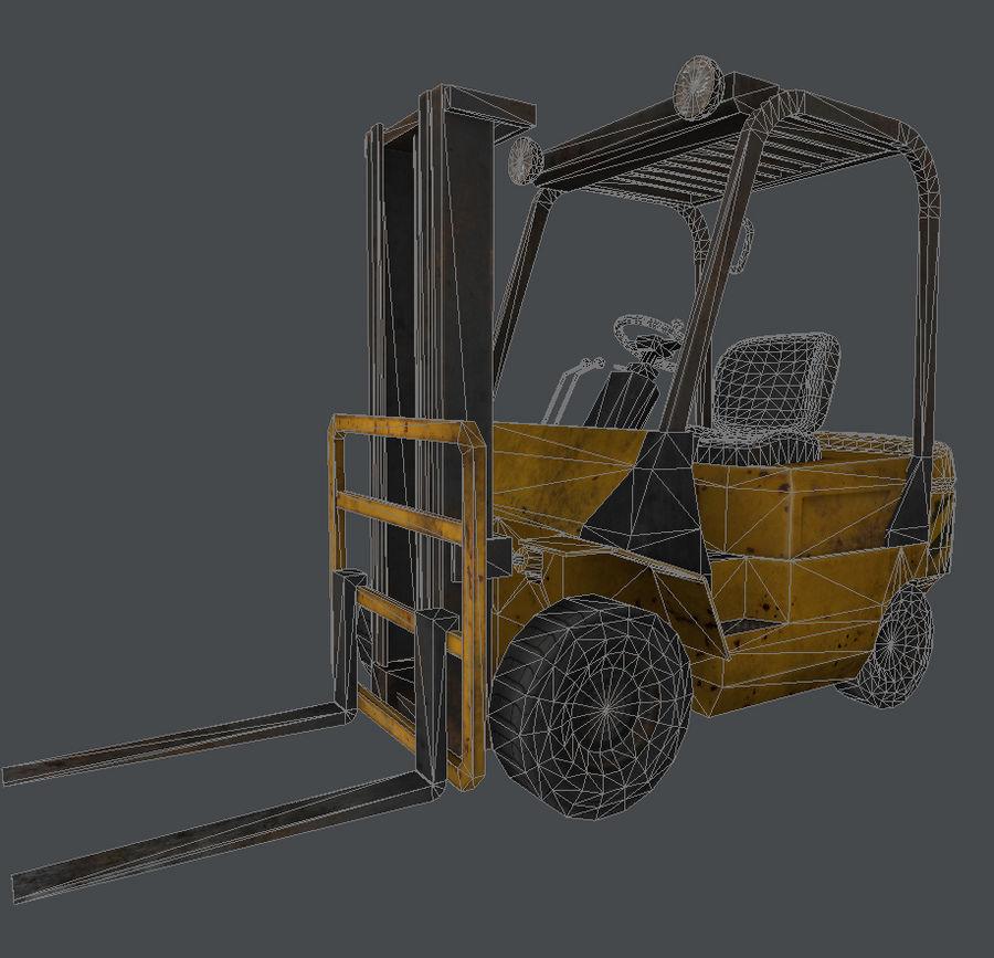 Wózek widłowy royalty-free 3d model - Preview no. 8