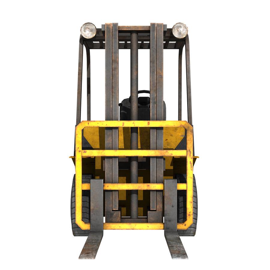 Wózek widłowy royalty-free 3d model - Preview no. 3