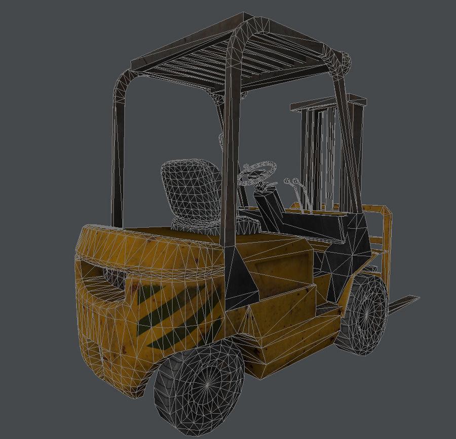 Wózek widłowy royalty-free 3d model - Preview no. 9