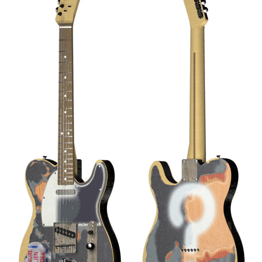 Fender Telecaster Joe Strummer royalty-free 3d model - Preview no. 7