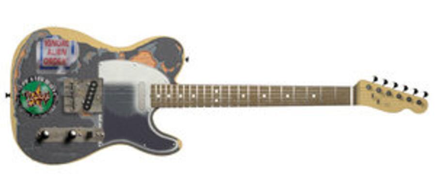 Fender Telecaster Joe Strummer royalty-free 3d model - Preview no. 1