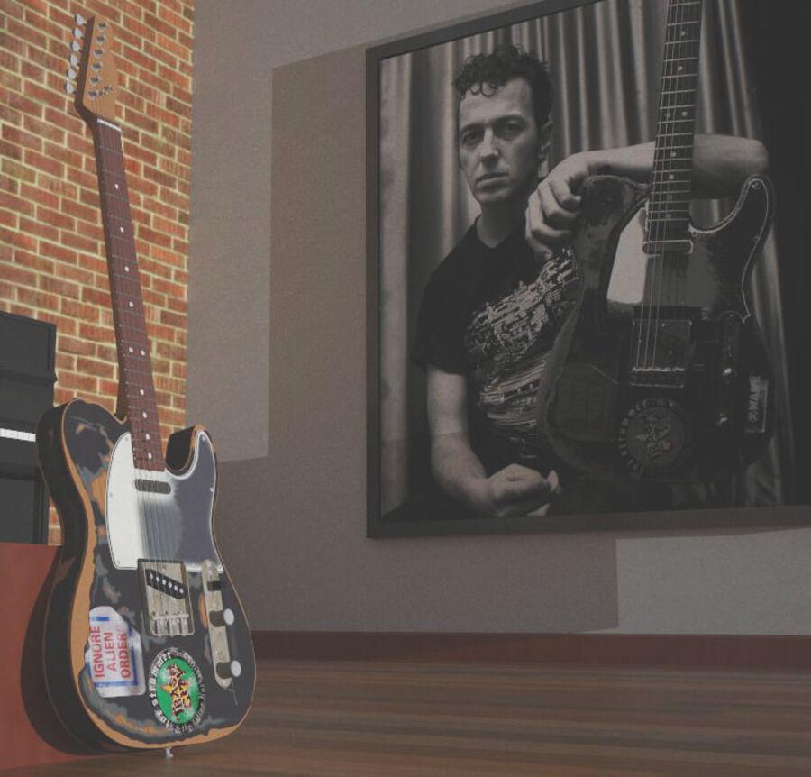 Fender Telecaster Joe Strummer royalty-free 3d model - Preview no. 8