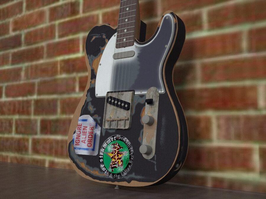 Fender Telecaster Joe Strummer royalty-free 3d model - Preview no. 2