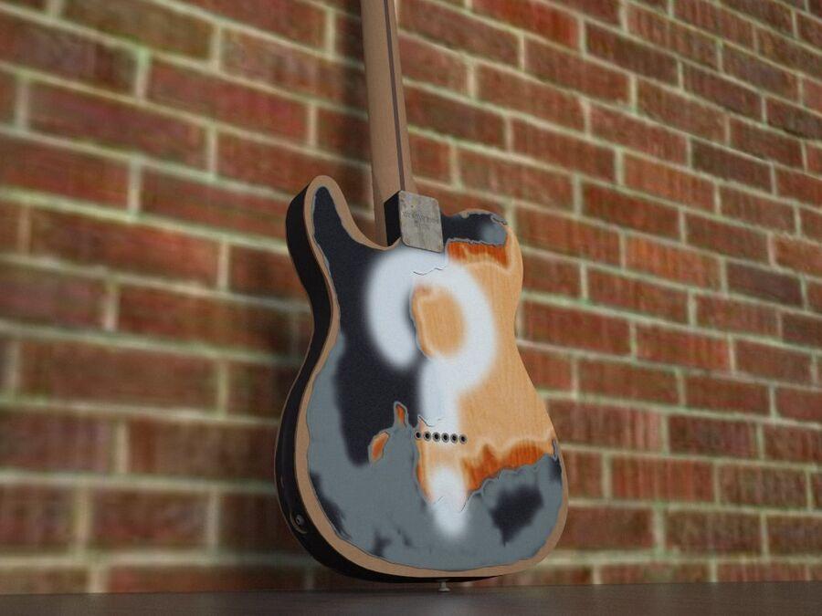 Fender Telecaster Joe Strummer royalty-free 3d model - Preview no. 3