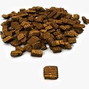 キャラメルチョコレート(2)キャンディプラリネ菓子菓子マカロンベーカリーパン屋店食事ケーキプレートトリュフバレンタイン洋菓子店ショップシュガーキャンディー 3d model
