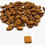キャラメルチョコレート(4)キャンディプラリネ菓子菓子マカロンベーカリーパン屋食事ケーキプレートトリュフバレンタイン菓子店ショップ砂糖キャンディーホリデークリスマスお祝いごちそう聖名祝賀会ボンボンコーヒー 3d model