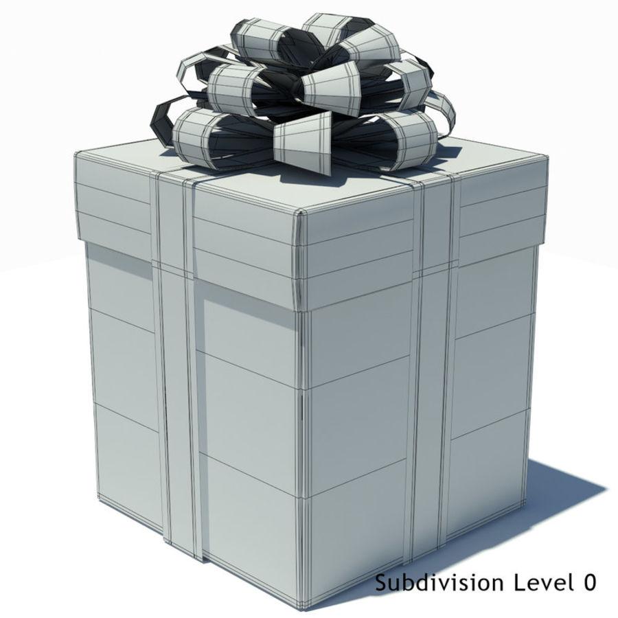 Geschenkbox Weiß royalty-free 3d model - Preview no. 9