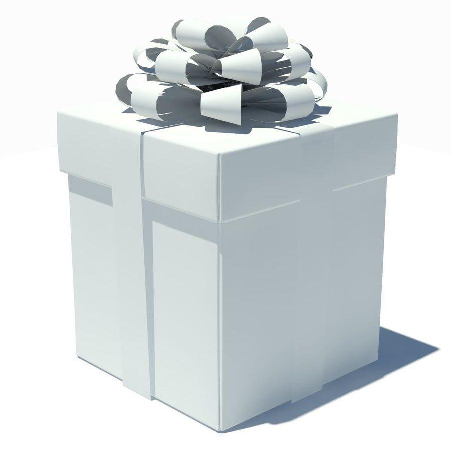 Geschenkbox Weiß royalty-free 3d model - Preview no. 14