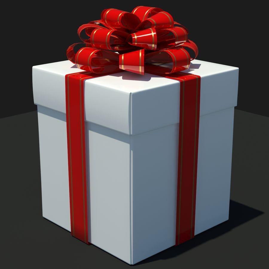 Geschenkbox Weiß royalty-free 3d model - Preview no. 1