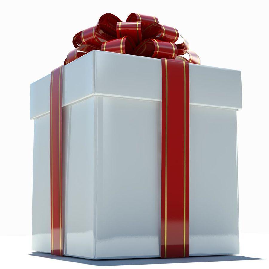 Geschenkbox Weiß royalty-free 3d model - Preview no. 4