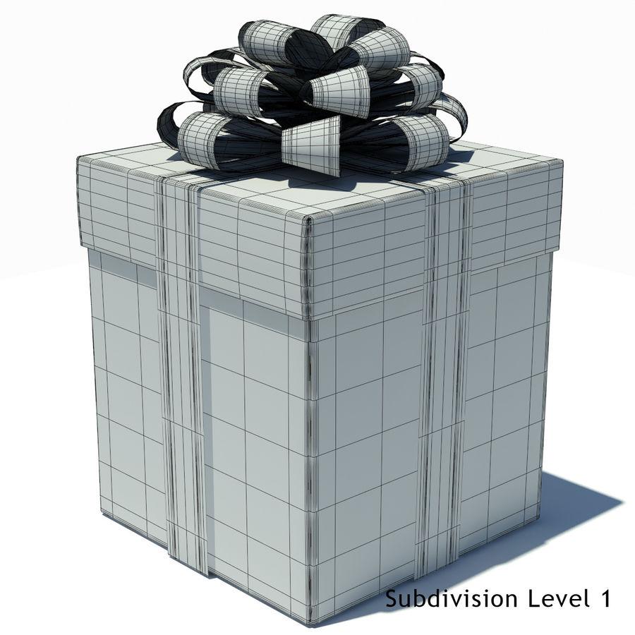 Geschenkbox Weiß royalty-free 3d model - Preview no. 11