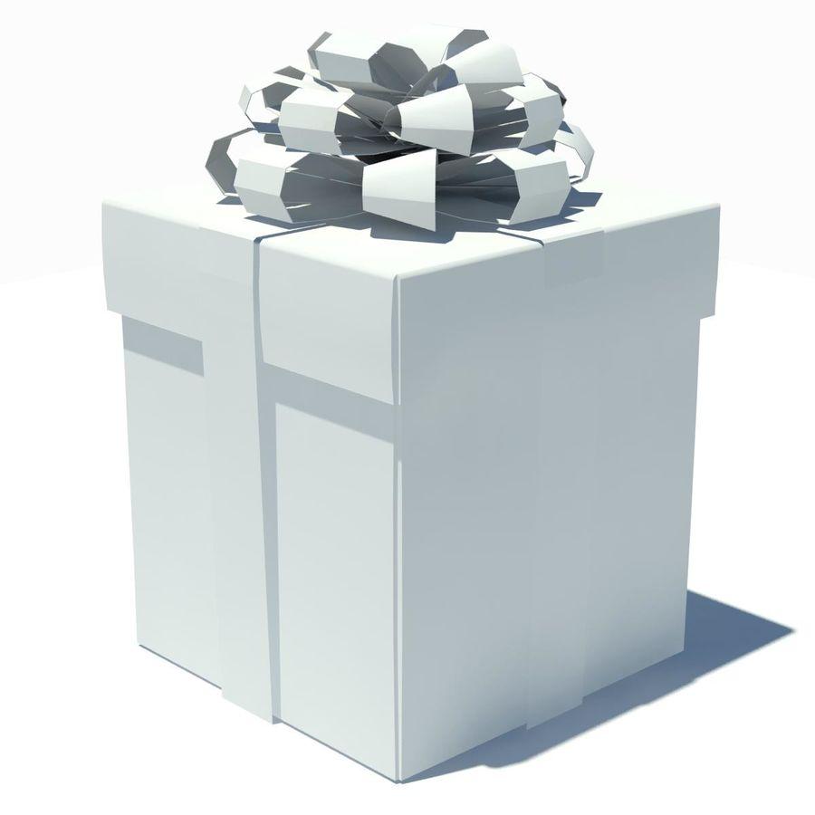 Geschenkbox Weiß royalty-free 3d model - Preview no. 13