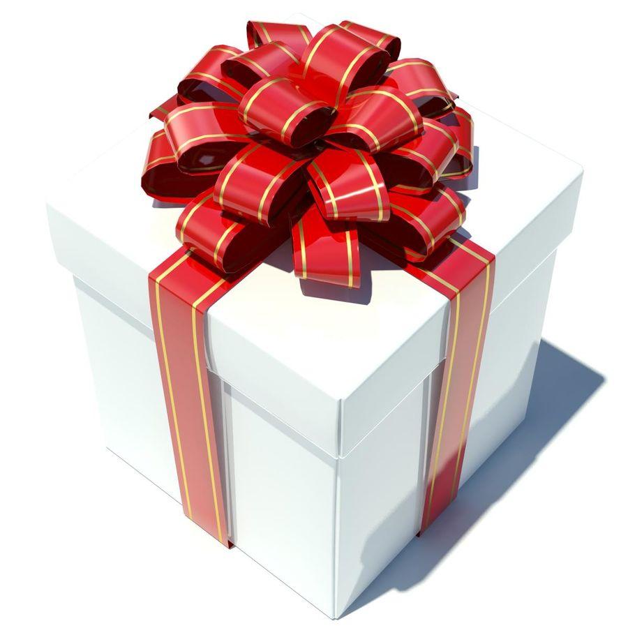 Geschenkbox Weiß royalty-free 3d model - Preview no. 5