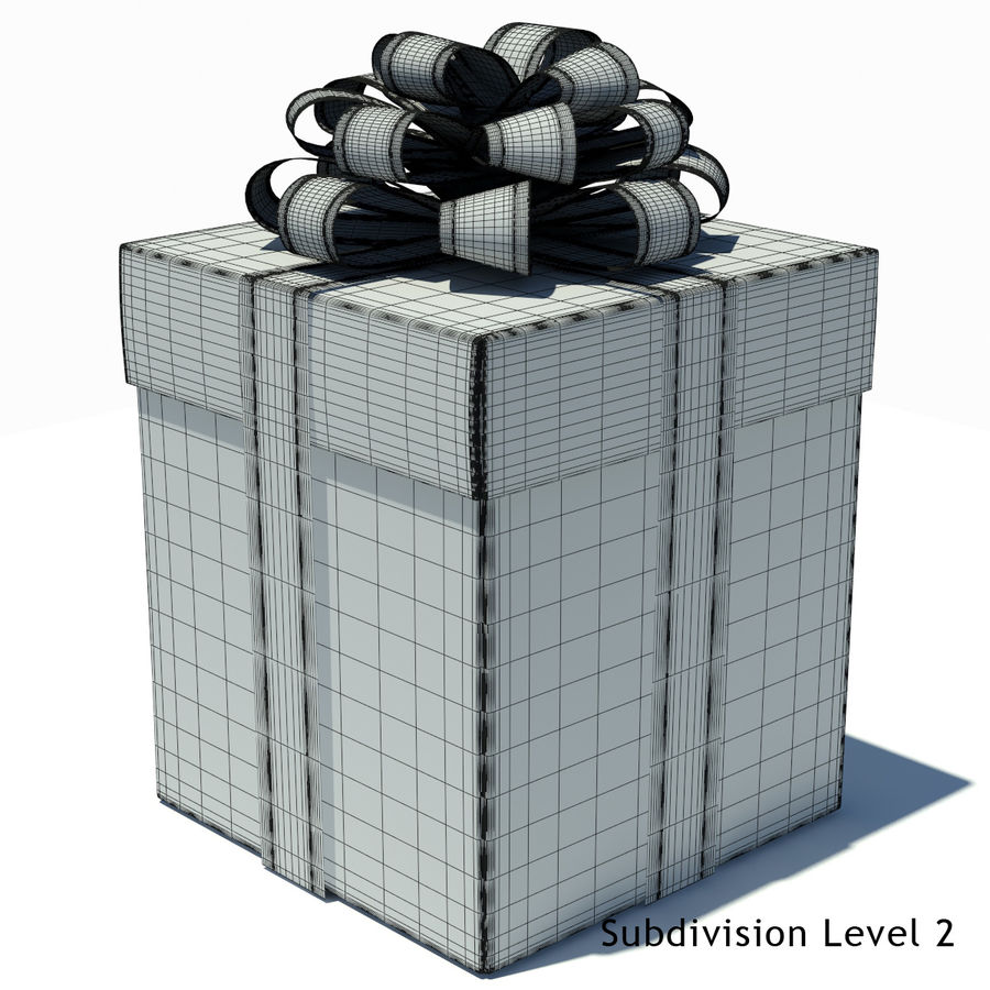 Geschenkbox Weiß royalty-free 3d model - Preview no. 12