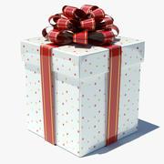 礼品盒白01 3d model