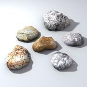 低聚地面岩石 3d model