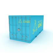 Seu contêiner de comércio de carga de logotipo para caminhões, navios ou aviões 3d model