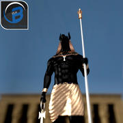 Anubis ägyptische Gott-Statue 3d model