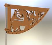 Celtic Wind Vane 3d model