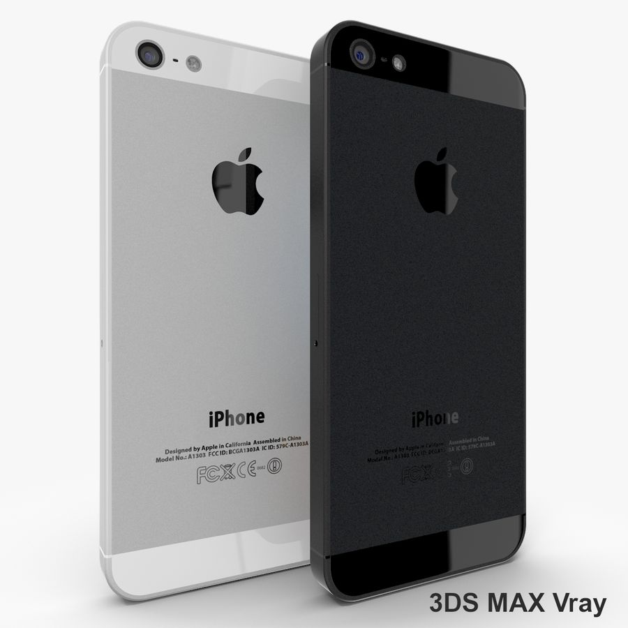 Apple iPhone 5 royalty-free 3d model - Preview no. 3