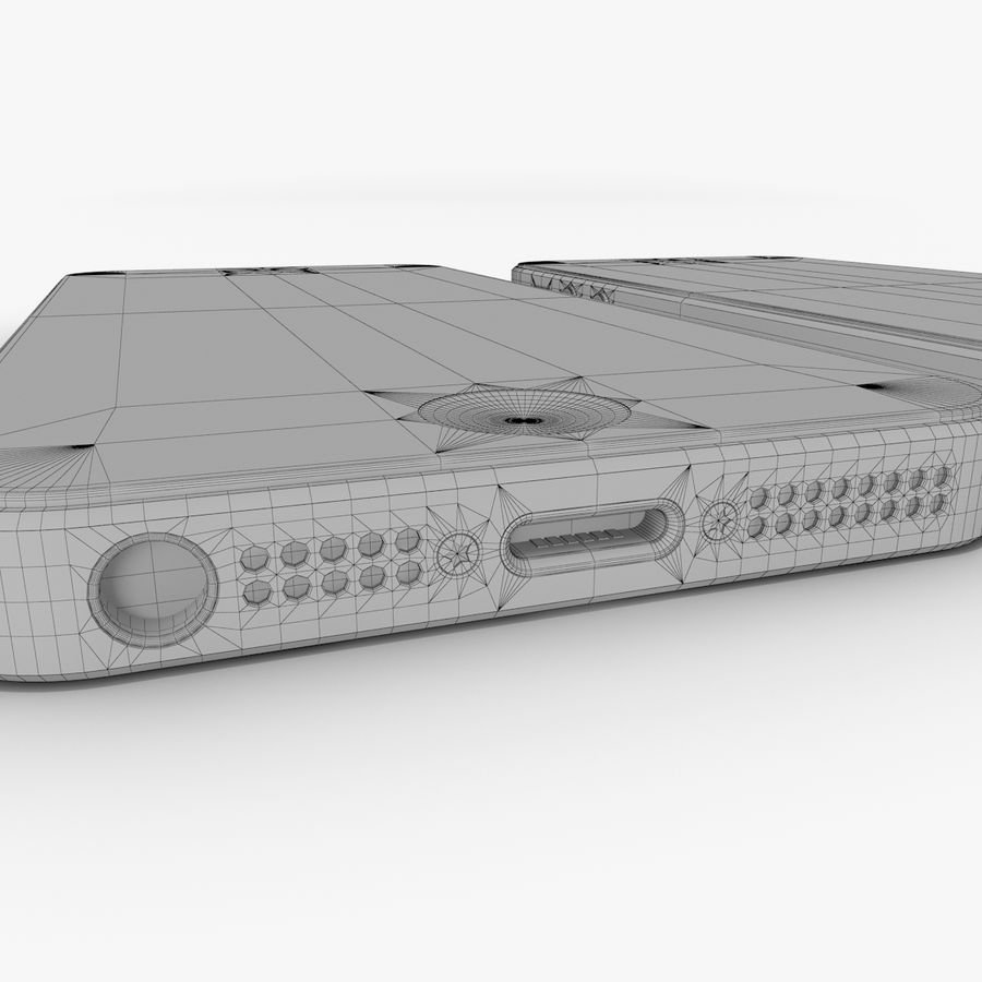Apple iPhone 5 royalty-free 3d model - Preview no. 15