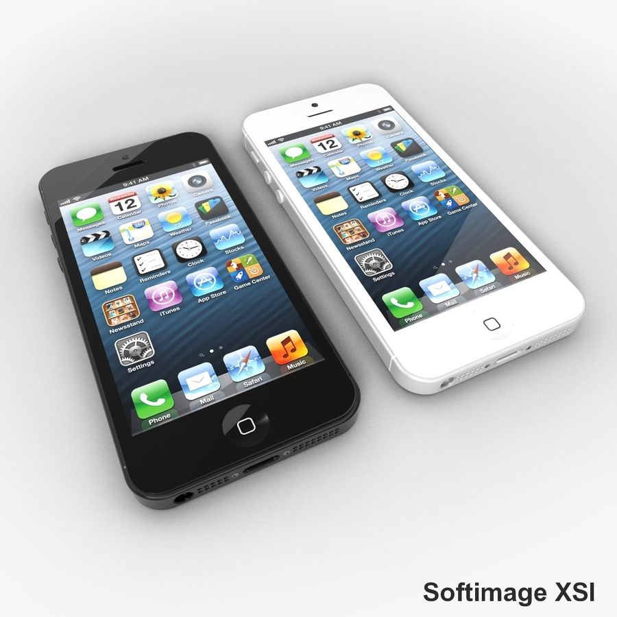 Apple iPhone 5 royalty-free 3d model - Preview no. 13