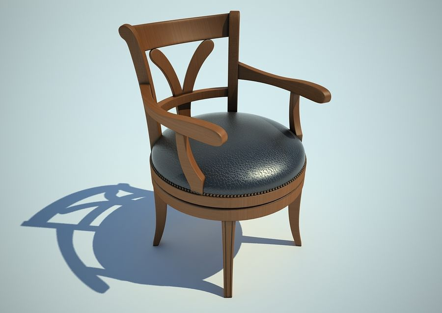 silla sillón royalty-free modelo 3d - Preview no. 1