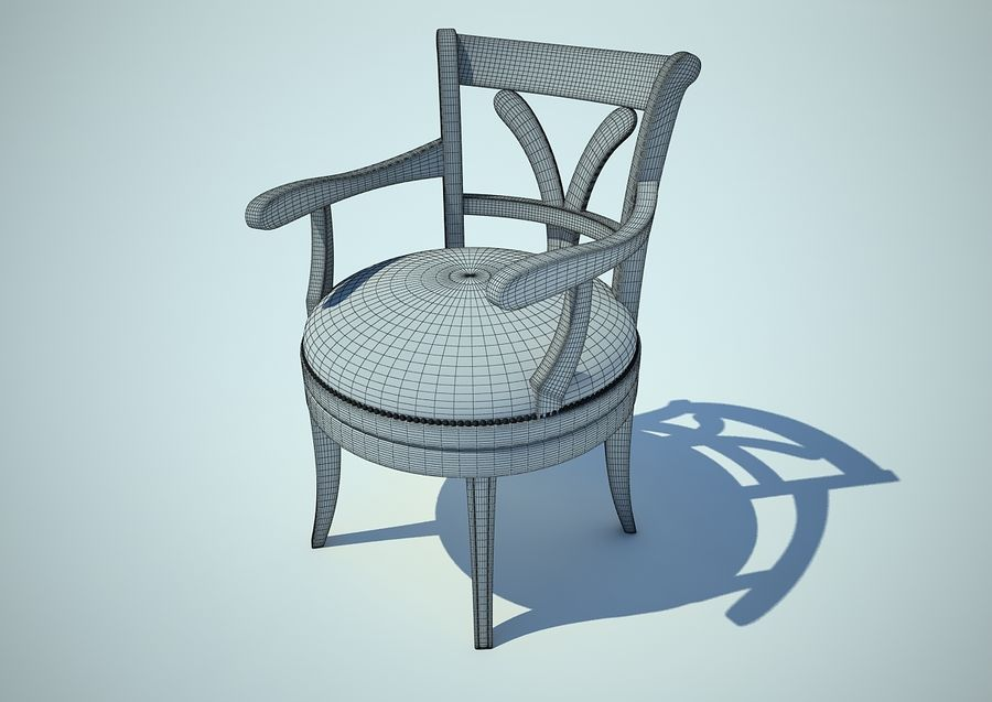 silla sillón royalty-free modelo 3d - Preview no. 3