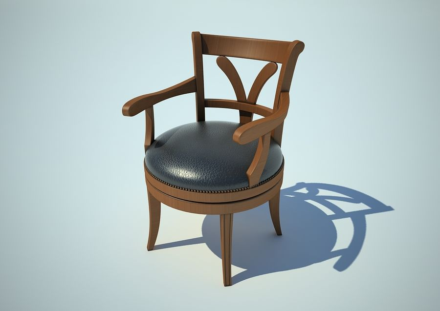 silla sillón royalty-free modelo 3d - Preview no. 2