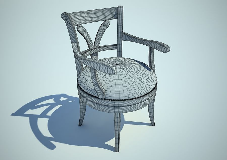 silla sillón royalty-free modelo 3d - Preview no. 4
