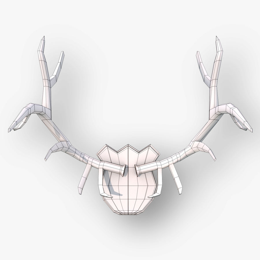Deer Antlers royalty-free 3d model - Preview no. 6
