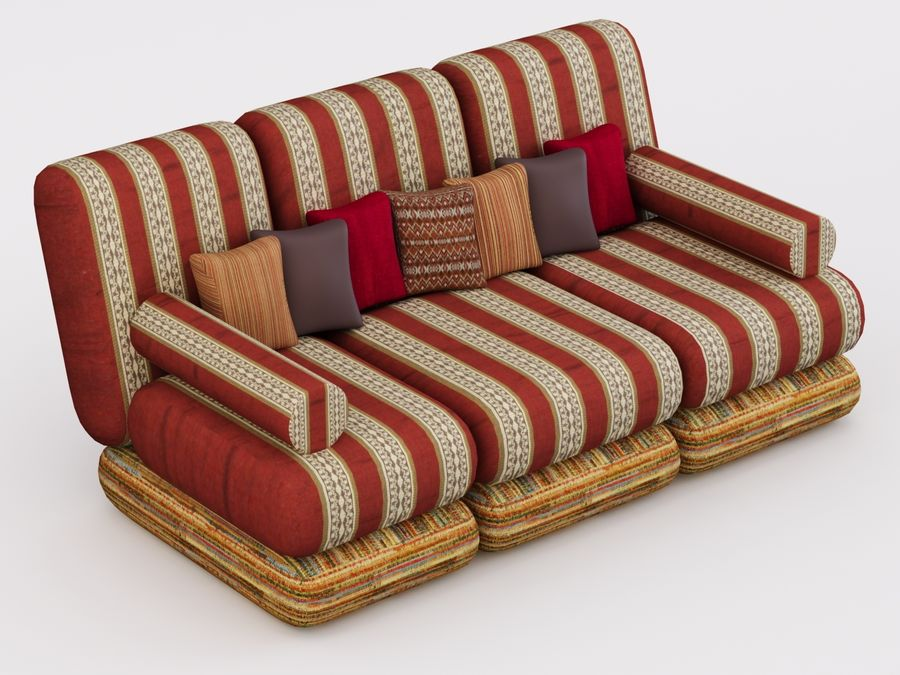 Sofa royalty-free 3d model - Preview no. 5