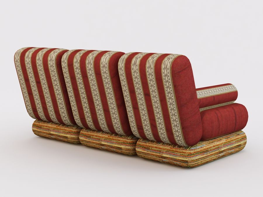 Sofa royalty-free 3d model - Preview no. 3
