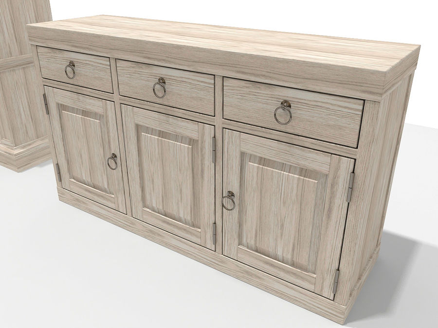 Gabinete y buffet de China royalty-free modelo 3d - Preview no. 5