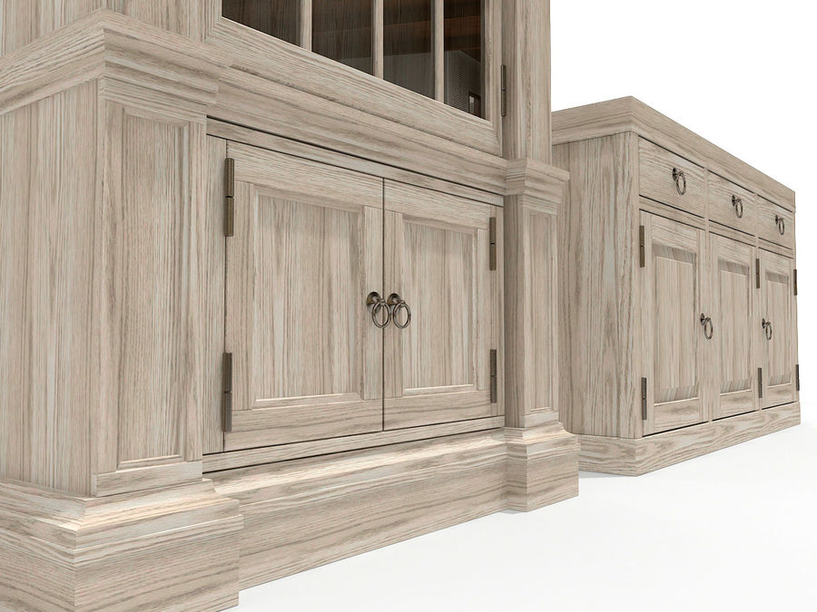 Gabinete y buffet de China royalty-free modelo 3d - Preview no. 3
