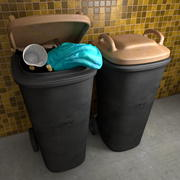 Trash Can Garbage Bin Waste Container 3d model