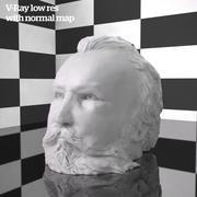 bust sculpture art composer 3d model