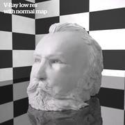 büstü heykel sanat bestecisi 3d model