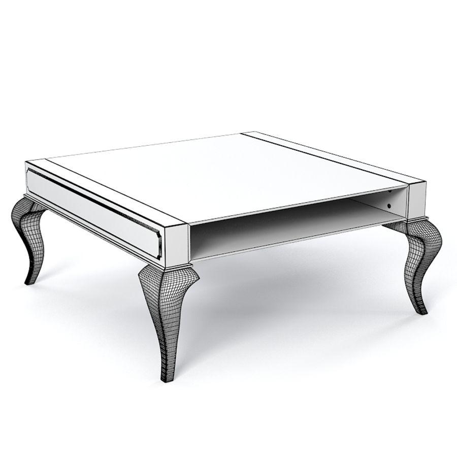 Selva 3747 Tzaar Стеклянный стол royalty-free 3d model - Preview no. 4