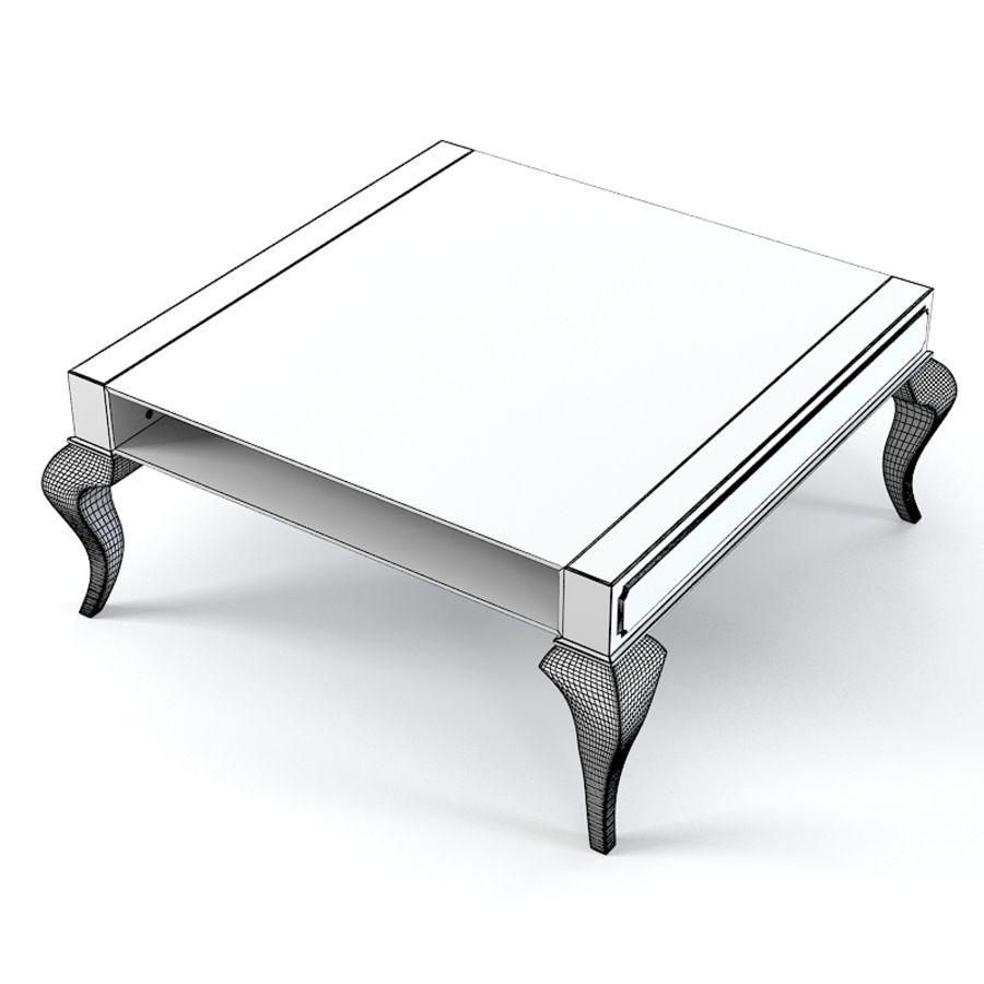 Selva 3747 Tzaar Стеклянный стол royalty-free 3d model - Preview no. 5
