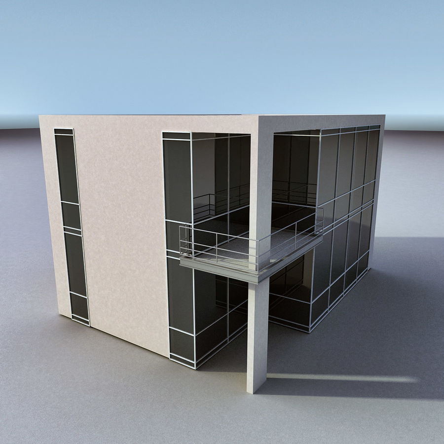 Residential 008 royalty-free 3d model - Preview no. 2