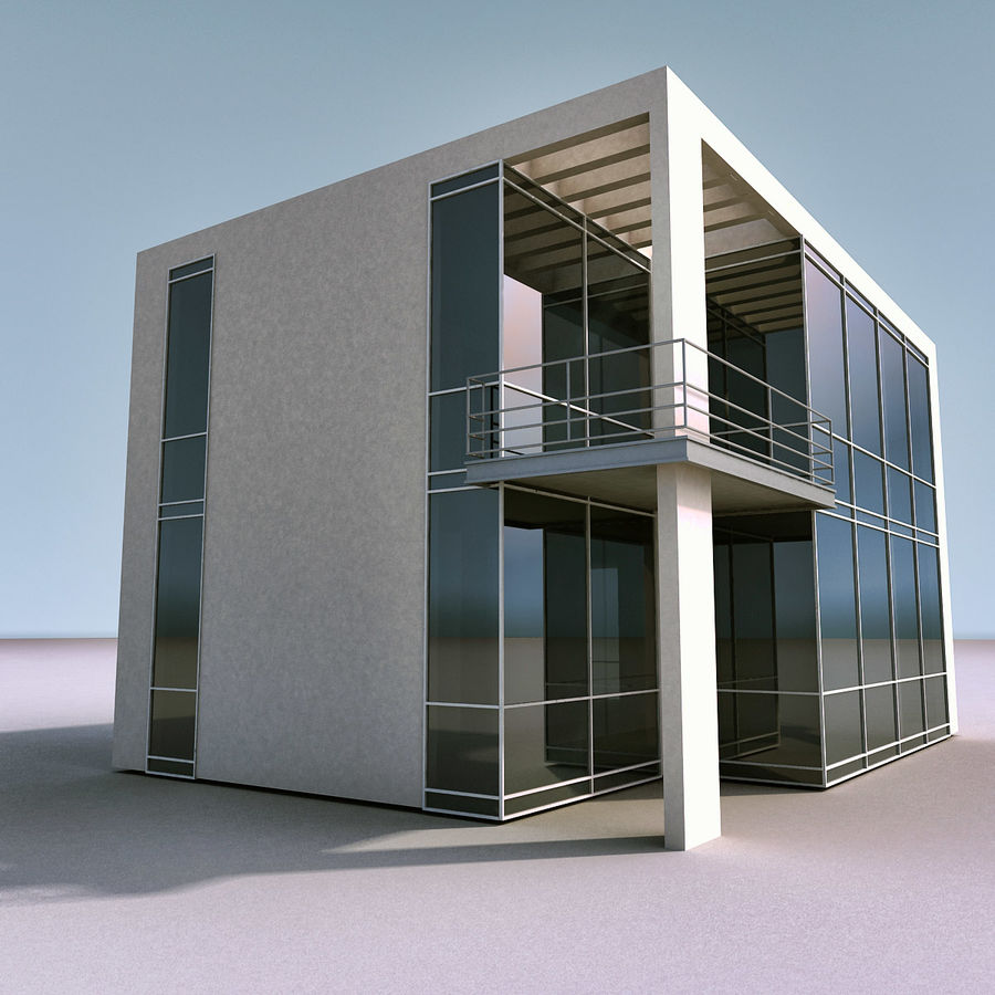 Residential 008 royalty-free 3d model - Preview no. 11
