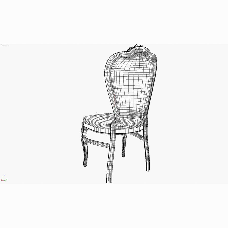 经典椅子 royalty-free 3d model - Preview no. 10