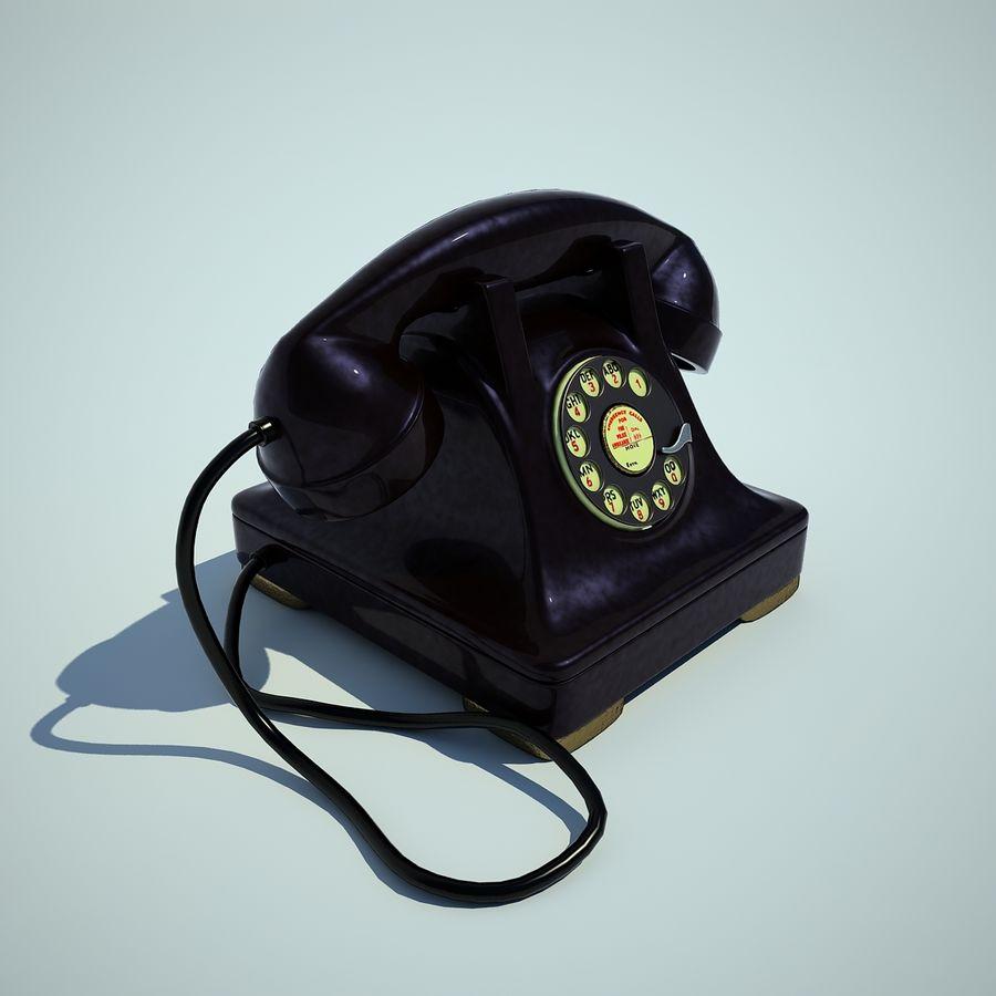 téléphone vieux royalty-free 3d model - Preview no. 3
