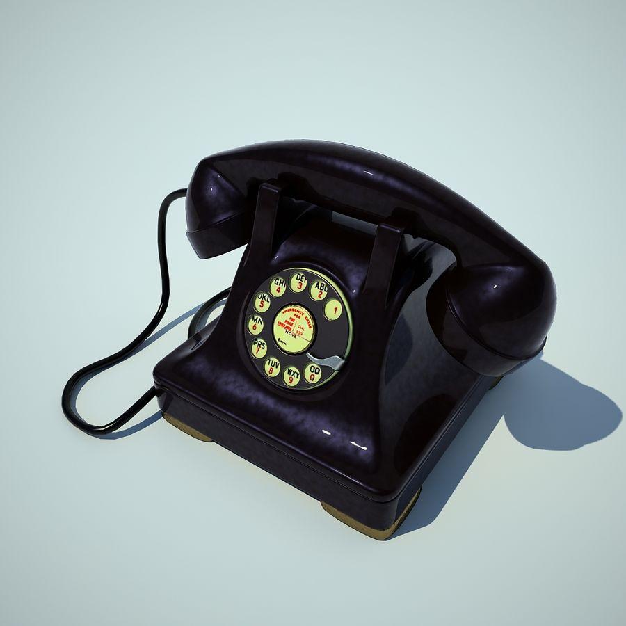 téléphone vieux royalty-free 3d model - Preview no. 1