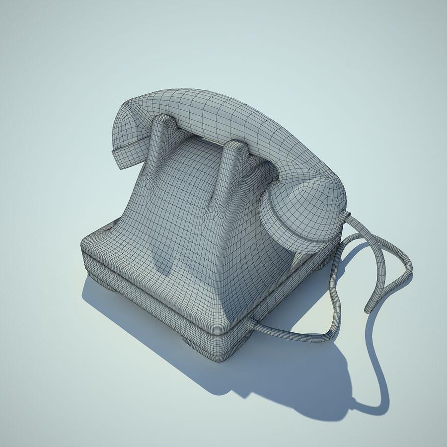 téléphone vieux royalty-free 3d model - Preview no. 6